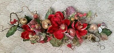 """Home Interior? """"Magnolia/Fruit"""" Floral Wall Swag - approx 29"""""""