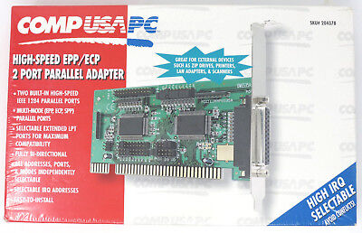 Comp USA High Speed EPP/ECP 2 Port Parallel Adapter Model DR42902 NEW SEALED