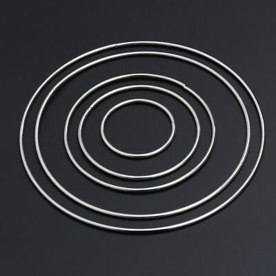 10X Metal Ring Hoops For Craft Dream Catcher Butterfly Ring Feather Pentacle AU