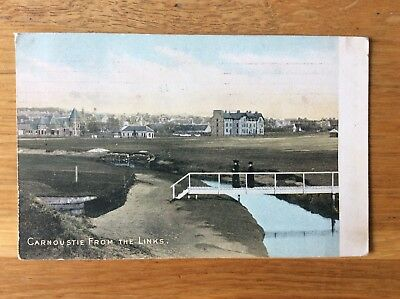 Vintage Postcard, Carnoustie, View From Golf Links, Angus, 1910