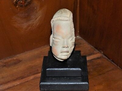 Pre-Colombian Hand-Carved Baby's Head (700 B.C- 1200 A.D)