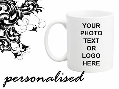 Personalised Mug Custom Tea Coffee Cup Your Text Image Logo Design Gift Present