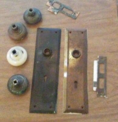 Vintage Sargent Brass Mortise Door Lock with 2 Plates, assorted items as well