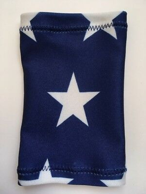 Lycra PICC Line or Freestyle Libre Cover - Navy & White Stars