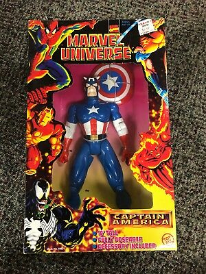 "CAPTAIN AMERICA MARVEL UNIVERSE Toy Biz 1997 10"" Action Figure Toy"