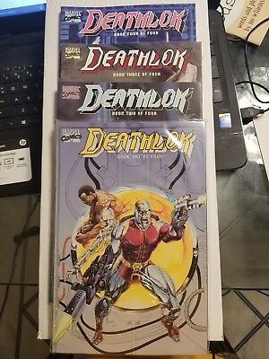 deathlok 4 book lot graphic novel all 4 books NM COMPLETE SET