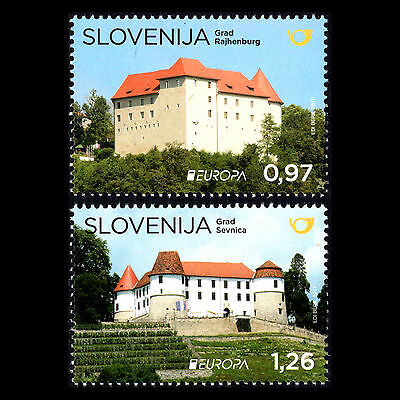 """Slovenia 2017 - EUROPA Stamps """"Palaces and Castles"""" Architecture - MNH"""