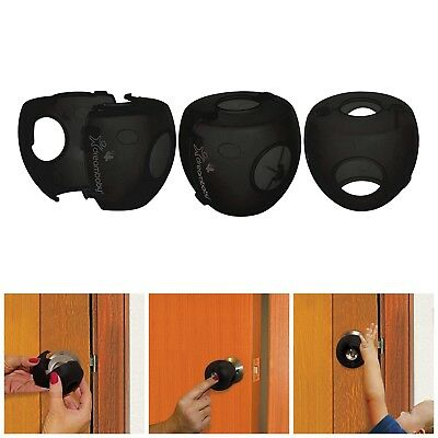 3x Children Safety Lock Door Knob Cover Child Proof Safe Toddlers Kids Guard