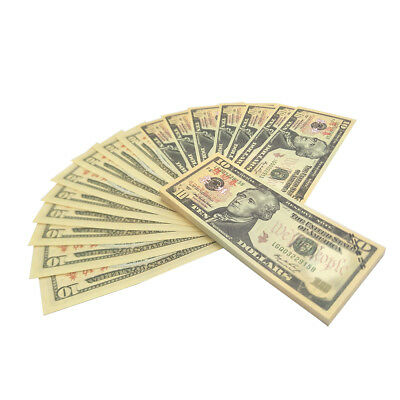 $10 Banknote Dollar Currency USA Money Bank Note Paper Gift Fake Bill 100 Sheets