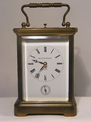 Matthew Norman 1751 Striking Repeater Carriage Clock Grande Corniche 8 Day