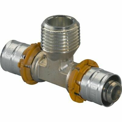 Uponor S-PRESS T-Piece with External Thread,from Brass,Press Fittings,16,25,32