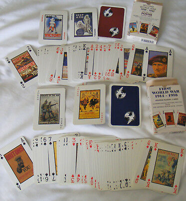 First World War and Second World War Poster Playing Cards