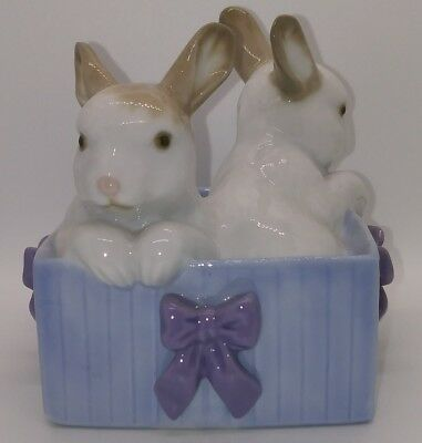 NAO by LLADRO 1988 BUNNY SURPRISE Figurine Hand Made in Spain