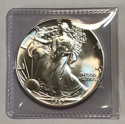 1987 1 oz American Silver Eagle 1 oz .999 Fine Silver Brilliant Uncirculated