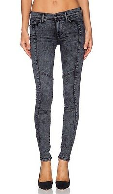 NEW Womens True Religion Jeans Halle Mid Rise Super Skinny Moto Acid Wash sz 30