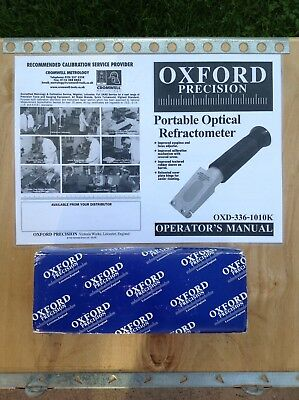 Oxford Portable Professional Refractometer Brand New!