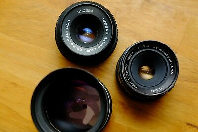 CARL ZEISS JENA DDR TESSAR 50mm f2.8 LENS M42 SCREW MOUNT