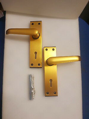 union ambassador 2x pairs of Door Lever Handles with key hole Lock Backplate