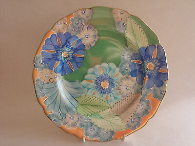 Detailed Art Deco Grays scalloped edge A4116 Large Plate Hand Painted & Gilded