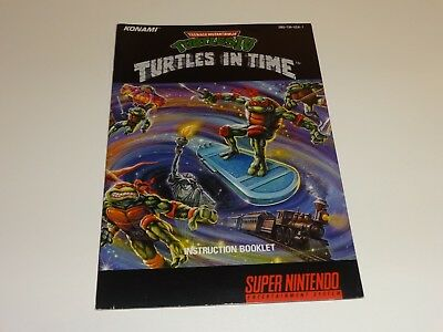TMNT IV TURTLES IN TIME ☆.☆ Manual only for Super Nintendo SNES NEAR MINT ☆.☆