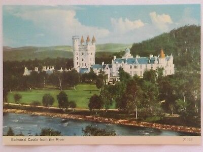 Balmoral Castle from the River - Scotland - Vintage - Collectable - Postcard.