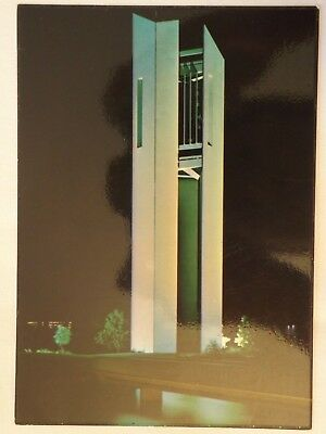 The Carillon by Night - Canberra - Australia - Vintage - Collectable - Postcard.