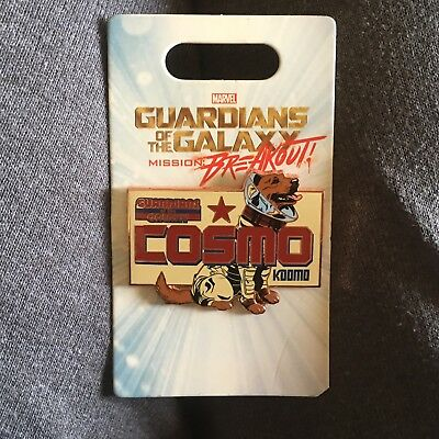 Guardians of The Galaxy Mission: Breakout Cosmo Dog Disney Pin