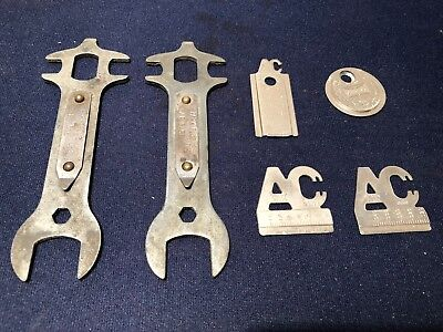6-Vintage Ac Champion Spark Plug Gap Gauge Tools Wrenches   ...cool