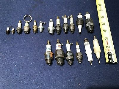 Vintage Lot Of 18- Spark Plugs Ac Corsair Titan Bethlehem Sterling   ....look
