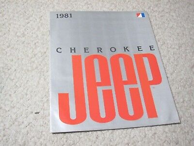 1981 Jeep Cherokee (Usa) Sales Brochure.