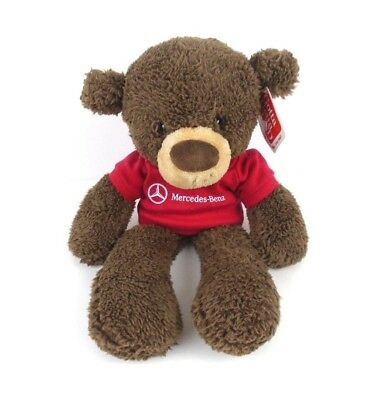 "Gund Fuzzy 13"" Chocolate Plush Bear Mercedes Benz Shirt 320115 Teddy Bear"