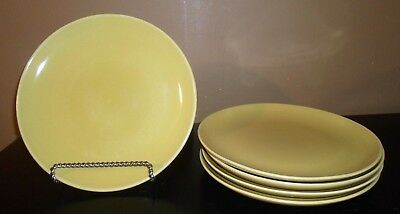 """(5) Iroquois China Russel Wright CASUAL AVOCADO YELLOW 10"""" Dinner Plates"""