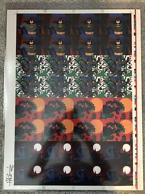 1993 Topps Batman Animated Series Uncut Sheet Signed