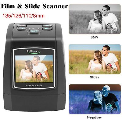 All-In-One 135/126/110/8mm 22MP Film Scanner Converts Film Slides Monochrome OY