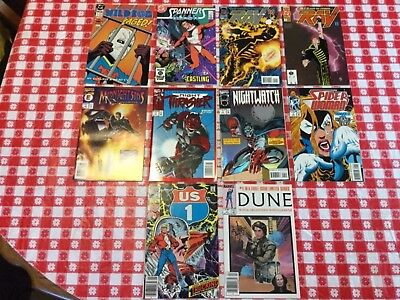 Lot of 10 #1 & #0 comic books from Marvel & DC