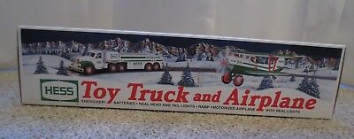 HESS 2002 TOY TRUCK AND AIRPLANE (BIPLANE) NEW IN BOX w BAG NEVER USED