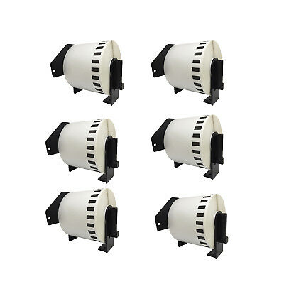 Compatible 6-PK DK-2223 For Brother 2'' x 100' Continuous Length Paper Tape