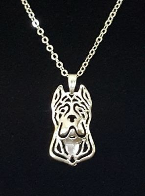 """Cane Corso, Cropped Ears, Dog Cute necklace 18"""""""