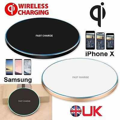 For iPhone XR XS X Samsung S9/+ QI Wireless Fast Charger Charging Dock Pad Mat