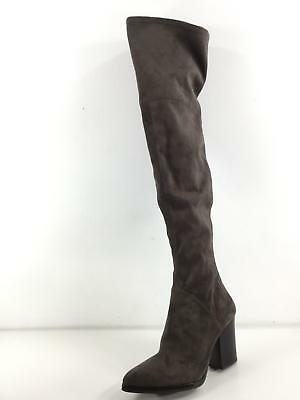 9cbcfc1b5cd C12 NEW Marc Fisher Arrine Grey Suede Over The Knee Boots Women s Size 9 M