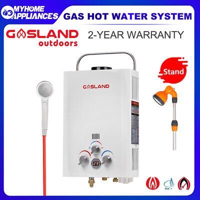 GASLAND Gas Hot Water Heater Portable Camping Shower Stand System Caravan