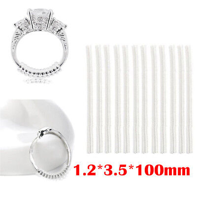 12Pcs Ring Size Adjusters Reducers Spiral Invisible Snugs Guard Resizer Tools