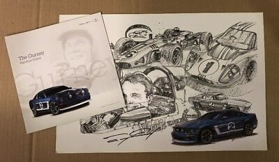 Saleen Ford Mustang Dan Gurney Promo Brochure & Autographed Poster Mustang H281