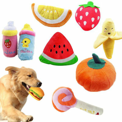 Pet Dog Funny Chew Training Squeaker Squeaky Toy Puppy Plush Play Sound Toys US