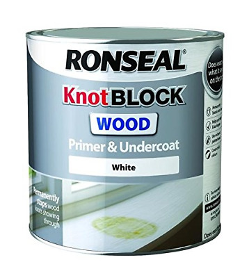 Ronseal RSLKBPU25L Knot Block Primer and Undercoat, White, 2.5 Litre