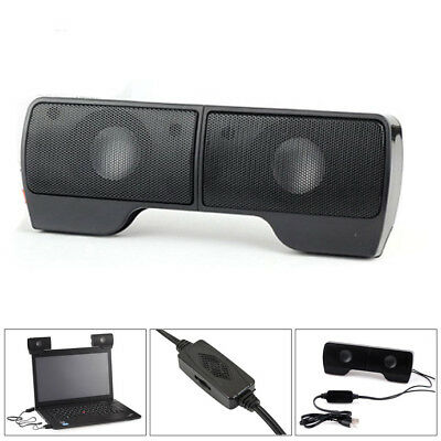 AU USB Power Wired Computer Speakers Stereo 3.5mm Jack For Desktop PC Laptop