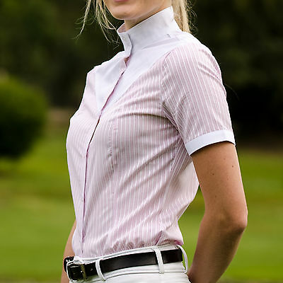 CLEARANCE! Competition show shirt in blue or pink stripe - sizes 4, 6, 8