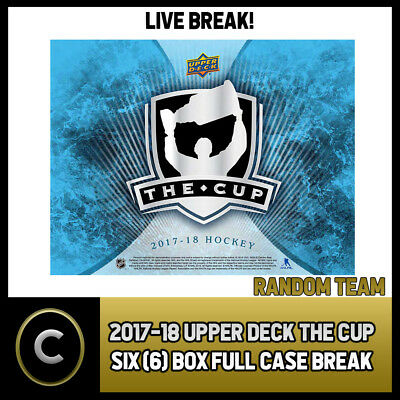 2017-18 Upper Deck The Cup 6 Box Full Case Break #h163 - Random Teams