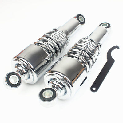 10.5'' 267mm Rear Air Shock Absorber Fit Harley Softail Road King Dyna Chrome