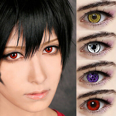 Colorful Contact Lenses 0 Degree Soft Round Eyes Makeup Halloween Cosplay Novità